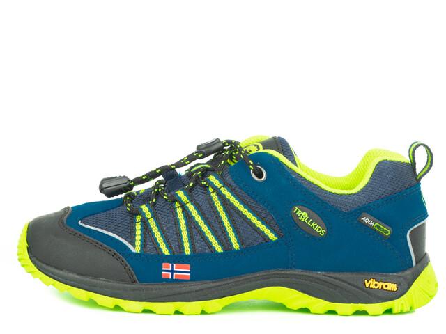TROLLKIDS Lofoten Hiker Lage Schoenen Kinderen, blue/lime